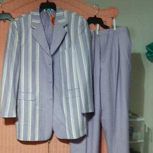 Mens Lavender Striped Purple Suit NWT